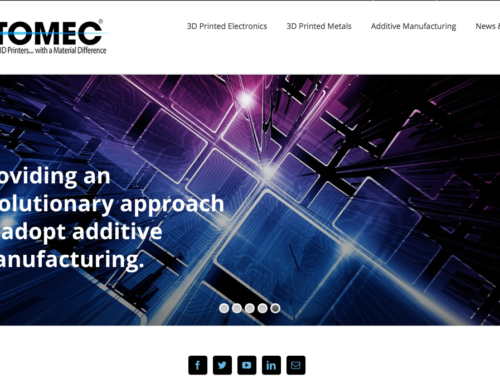 Web Design for Industrial 3D Printing Company Optomec